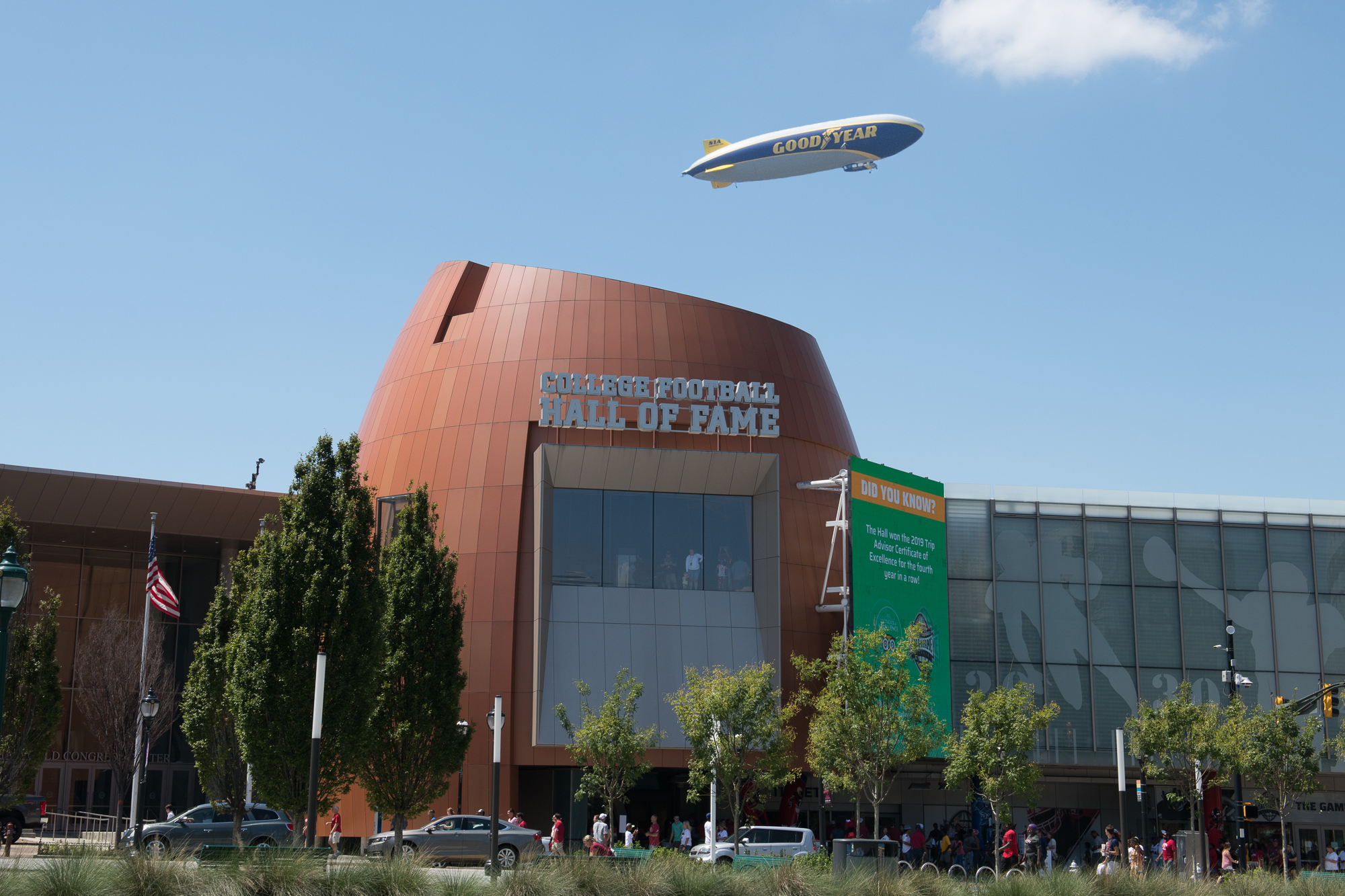 Blimp over Football Hall of Fame